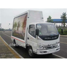 Low Price Foton 4*2 mobile led screen truck with video,P10 display trucks